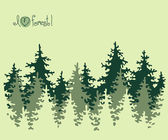 Abstract banner of coniferous forest. — Stock Vector