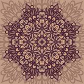 Flower Mandala. Abstract background. — Stockvektor