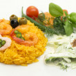 Rice with shrimps — Stock Photo
