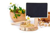 Dried chamomile, medicinal herbs — Stock Photo