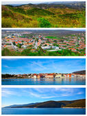 Set of photo of the Istrian part of the Adriatic coast — Stock Photo