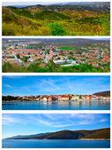Verzameling van foto van het istrische deel van de adriatische kust — Stockfoto