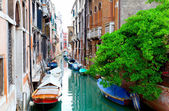 Narrow old street of Venice, Italy. — Stok fotoğraf