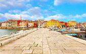 Casco antiguo de istria en porec, croacia. — Foto de Stock