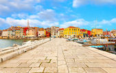 Old Istrian town in Porec, Croatia. — Fotografia Stock