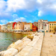 Old Istrian town in Novigrad, Croatia. - Foto Stock