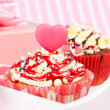 Valentine cupcake — Stock Photo #19437919