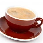šálek kávy, na bílém pozadí — Stock fotografie