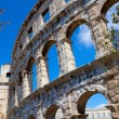 Details of colosseum - great italian landmarks series - Foto Stock