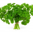 Fresh green parsley, isolated on white background — Stock Photo