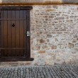 Old medieval door - Stock Photo