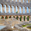Details of colosseum - great italian landmarks series - Stock Photo