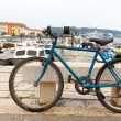 Old bicycle on the embankment — Stock Photo #21254305
