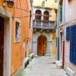 Narrow Street in the City of Rovinj, Croatia — Stock Photo
