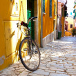 Street in the small town Rovinj, Croatia — Stock Photo