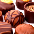 Delicious chocolate pralines — Stock Photo