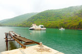 Bay in Istria, Croatia. At the time of drizzling rain — Stock Photo