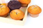 Muffins, on white background — Stock Photo