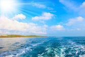 Photo of the Istrian part of the Adriatic coast — Stock Photo