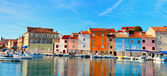 Old Istrian town in Novigrad, Croatia. — Foto de Stock