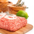 Raw minced meat — Stock Photo