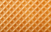 Structure of a baked golden waffle background — Stock Photo
