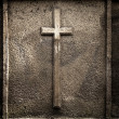 Cross on wall background — Stock Photo