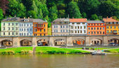 Landscape on the River Elbe, Germany, the region of Europe. old — Stock Photo