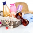 Royalty-Free Stock Photo: Women\'s accessories for outdoor relaxation. beach items isolated