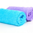 Two rolled towel, isolated on white — Stock Photo #24495253