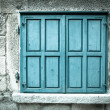 Wooden window shutters. Closed old shuttered  — Stock Photo