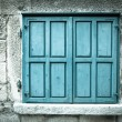 Wooden window shutters. Closed old shuttered — Stock Photo #24496821