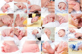 New born baby composition, set — Stockfoto