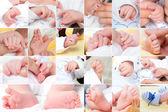 Pasgeboren baby samenstelling, instellen — Stockfoto