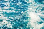 抽象的な青い水の海の背景 — ストック写真