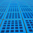 Solar panels background on the promenade in Zadar, Croatia. amph - Stock Photo
