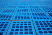 Solar panels background on the promenade in Zadar, Croatia. amph — Stock Photo
