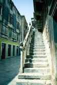 Old house stairway in city of Zadar, Dalmatia, Croatia — Stock Photo