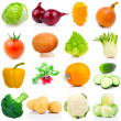 Set of vegetable, on a white background — Stockfoto