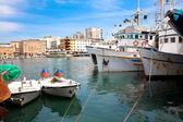 Fishing boat in port in Zadar, Croatia — Stock Photo