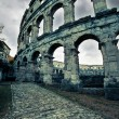 Ancient Roman amphitheater coloseum in Pula, Croatia — Stock Photo