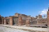 Ancient Roman city of Pompeii, which was destroyed and buried by — Stock Photo