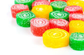 Close-up of colorful fruit candy — Stock Photo