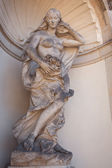Sculpture in the palace in Dresden, eastern Germany, built in Ro — Stock Photo