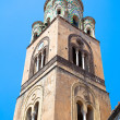 The bell tower of Amalfi Cathedral, Italy. 9th-century Roman Cat — Stock Photo #32177895