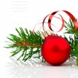 Christmas decoration isolated on white background — 图库照片