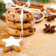 Christmas cookies with festive decoration — Stok fotoğraf