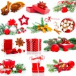 Stock Photo: Christmas decoration set, isolated on white