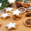 Stock Photo: Christmas cookies with festive decoration
