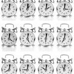 Set of old style alarm clock, isolated on white — Stock Photo #34704289